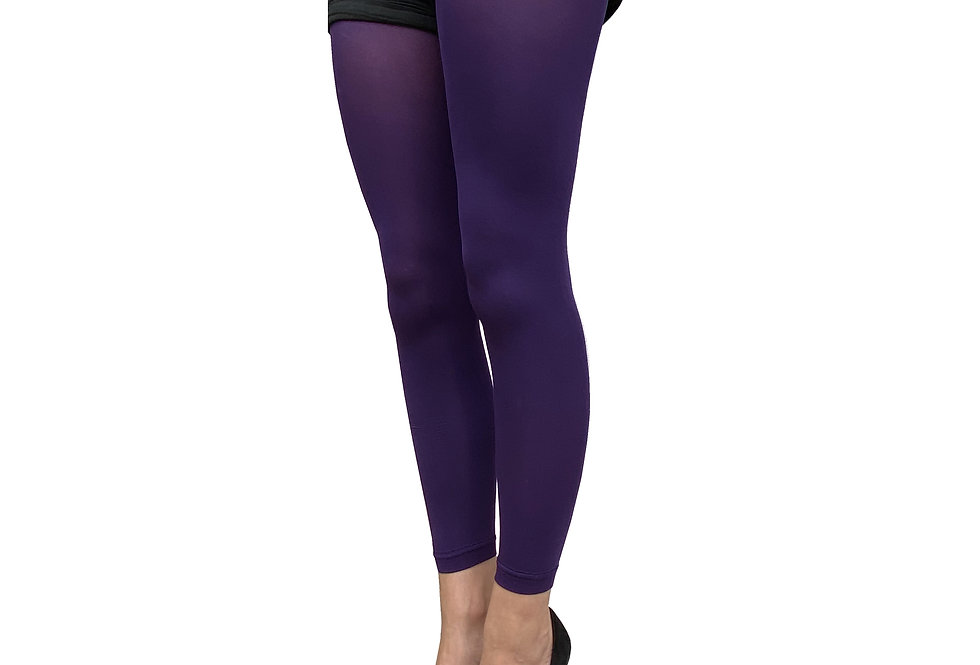 Dark Purple Footless Tights