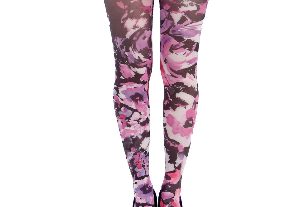 Colorful Floral Patterned Tights Promise for Women