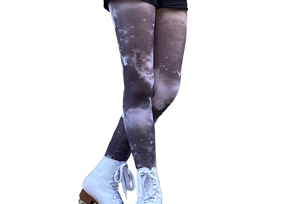 Black and White Patterned Tights Galaxy for Women