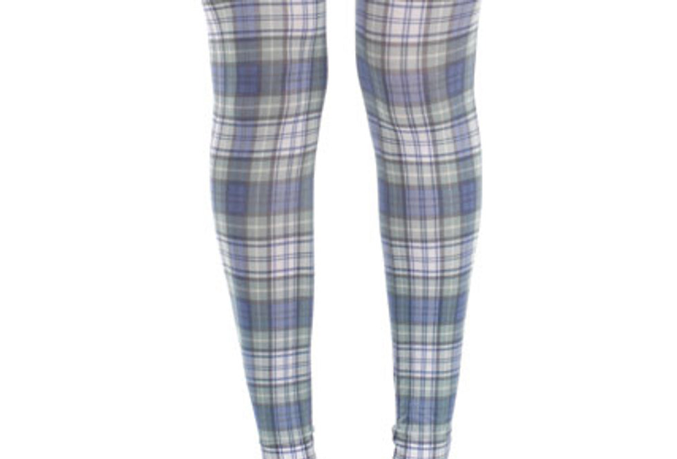 Plaid Footless Tights for Women