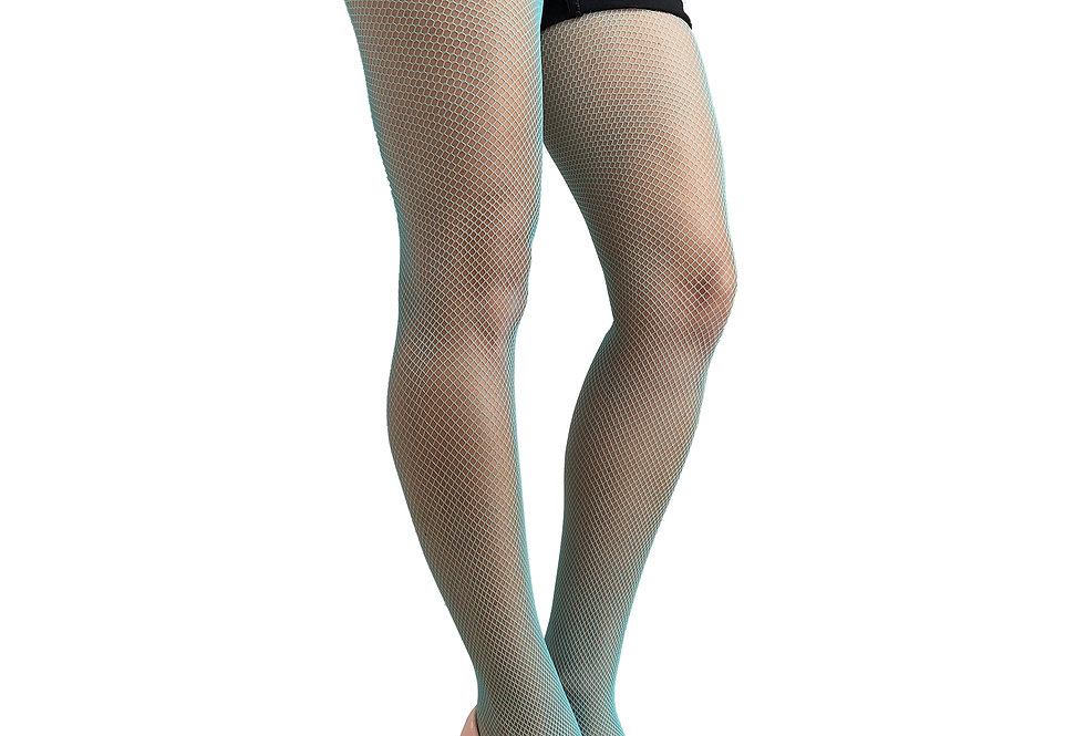 Turquoise Fishnet Tights for  Women Malka Chic