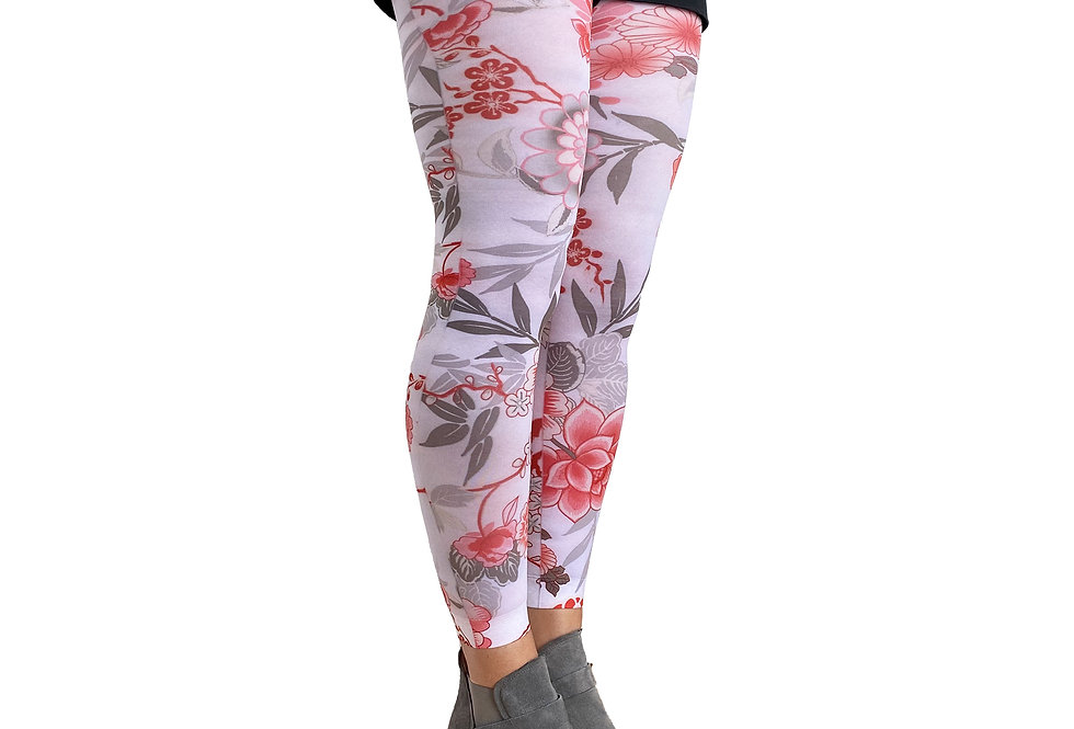 Floral Footless Tights Japan for Women Malka Chic