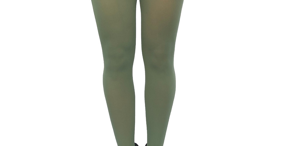 Plus Size Tights Leaf Green for Women