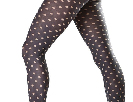 Black and Beige Patterned Tights Dotty for all Women