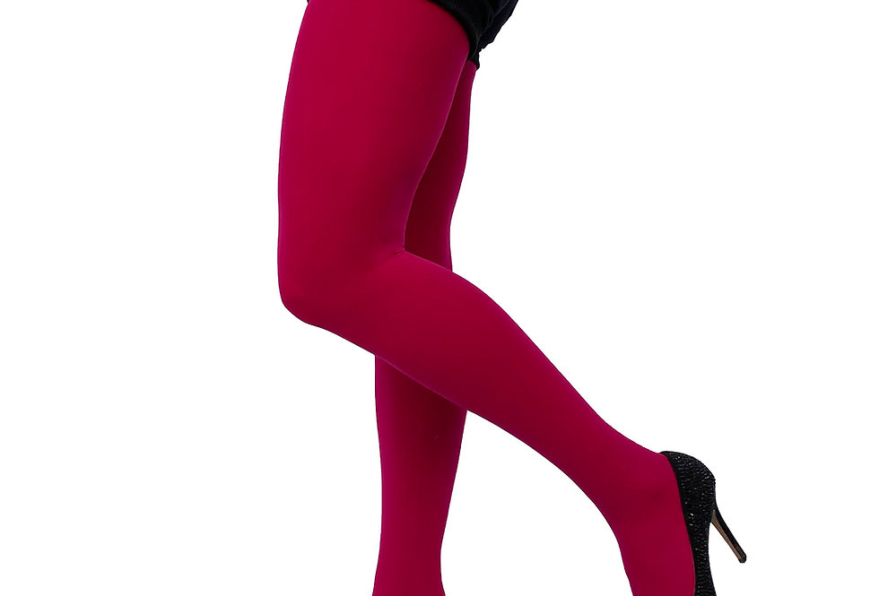 Cherry Pink Opaque Tights 80 D for Women