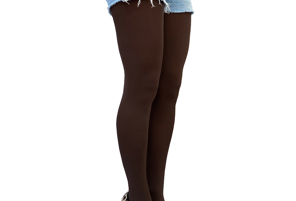Brown Opaque Tights 80 D for  Women