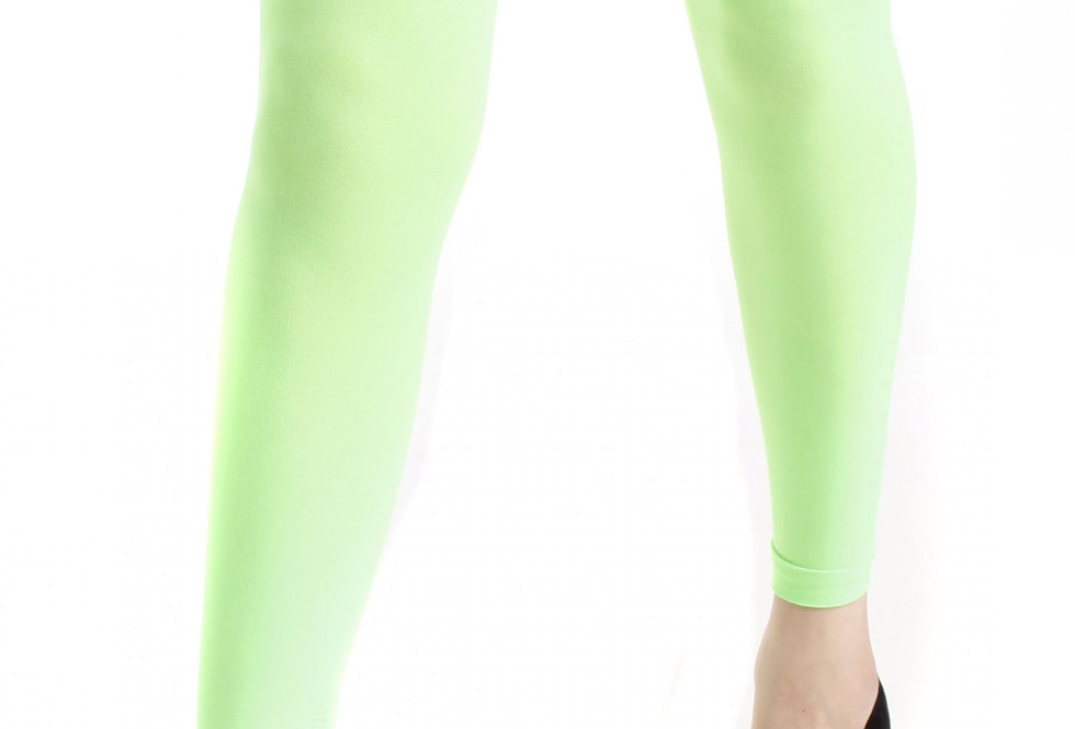 Green Footless Tights Opaque 40