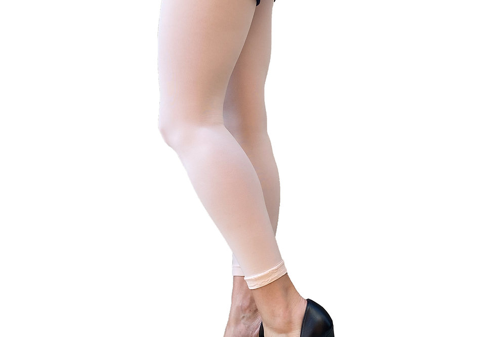 Pastel Pink Footless Tights For Women Malka Chic
