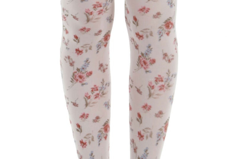 Autumn Floral Patterned Tights for women