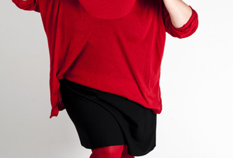 Red Tights Plus Size Red for Women