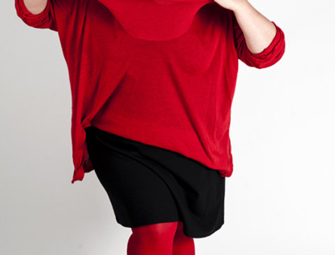 Plus Size Tights bright Red for Women