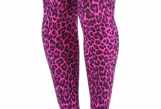 Pink Leopard Tights for Women