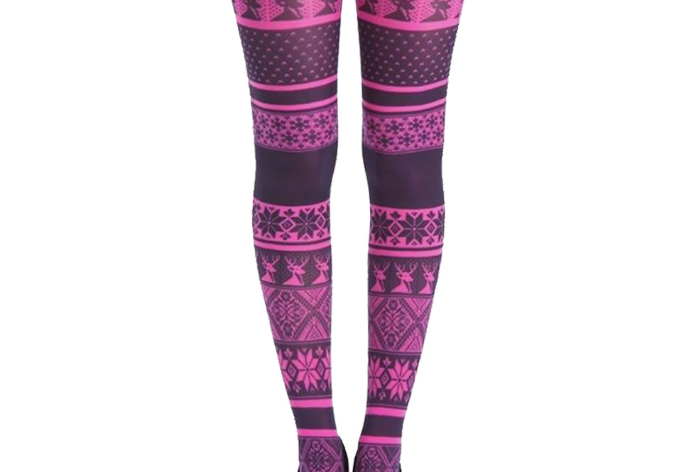 Pink Tights Winter Pattern Fair Isle