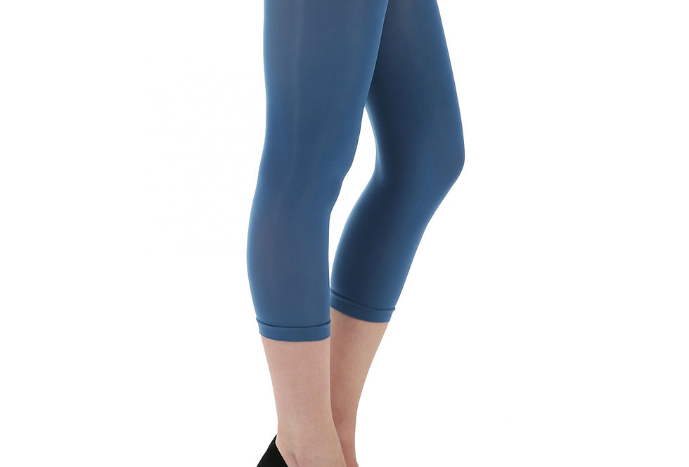 Denim Blue Capri Footless Tights