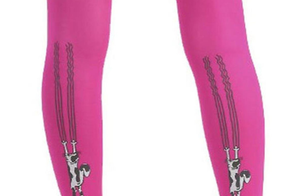 Pink Opaque Tights Cats For Women