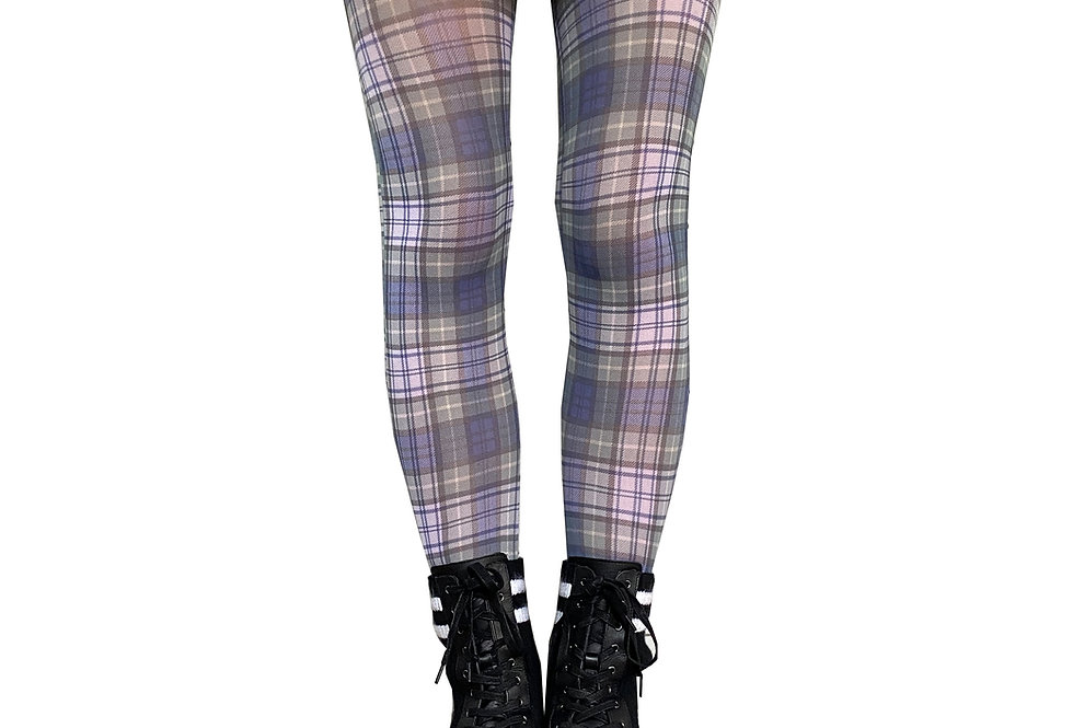 Plaid Patterned Tights for Women