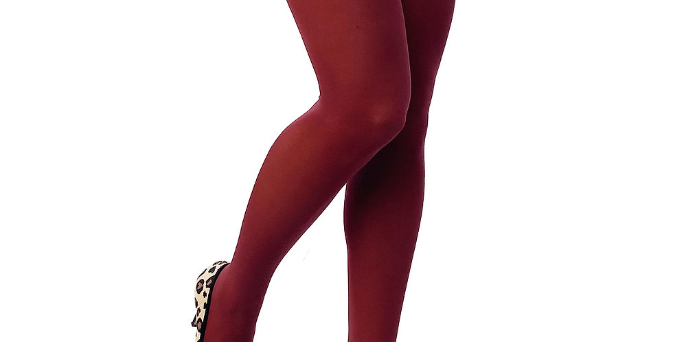 Burgundy Opaque Tights 80 D for Women