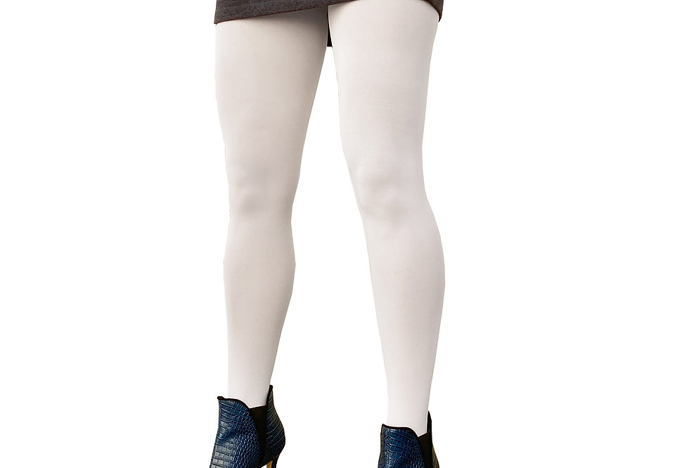 White Opaque Tights for Women