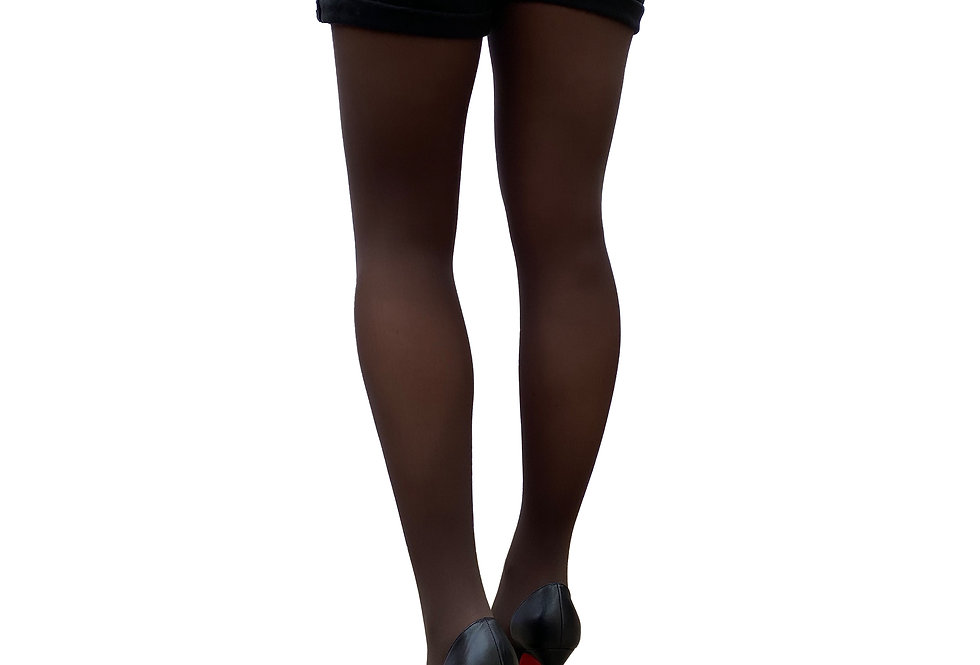 Brown Opaque Tights for Women Malka Chic