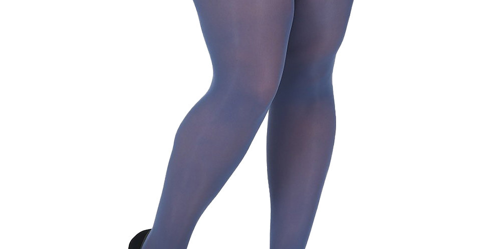Plus Size Tights Blue Denim for Women