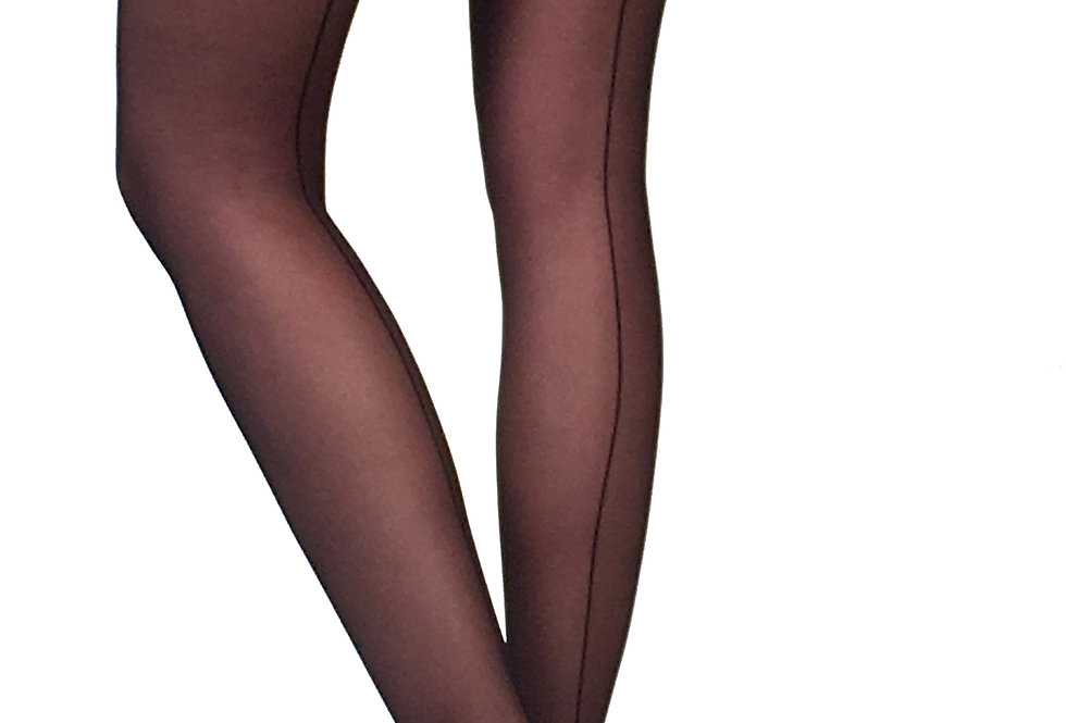 Sheer back Seam Tights  black for Women