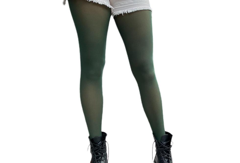 Dark Green Tights Plus Size for Women Malka Chic