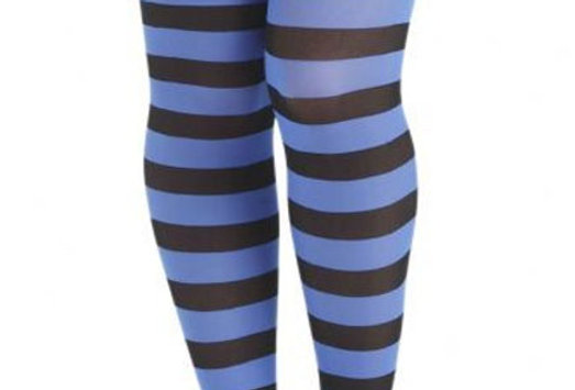 Blue Striped Tights for Women