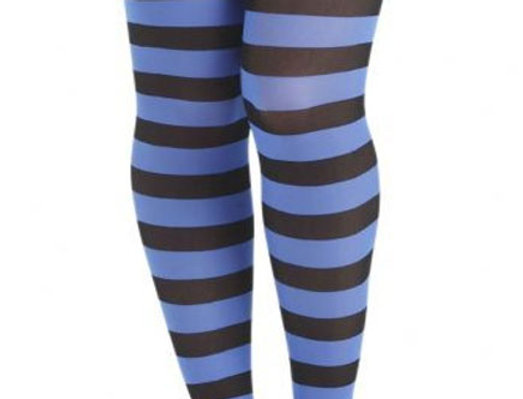 Blue Opaque Tights for Women