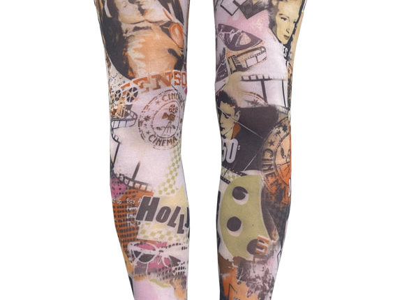 Colorful Patterned Tights Hollywood for Women
