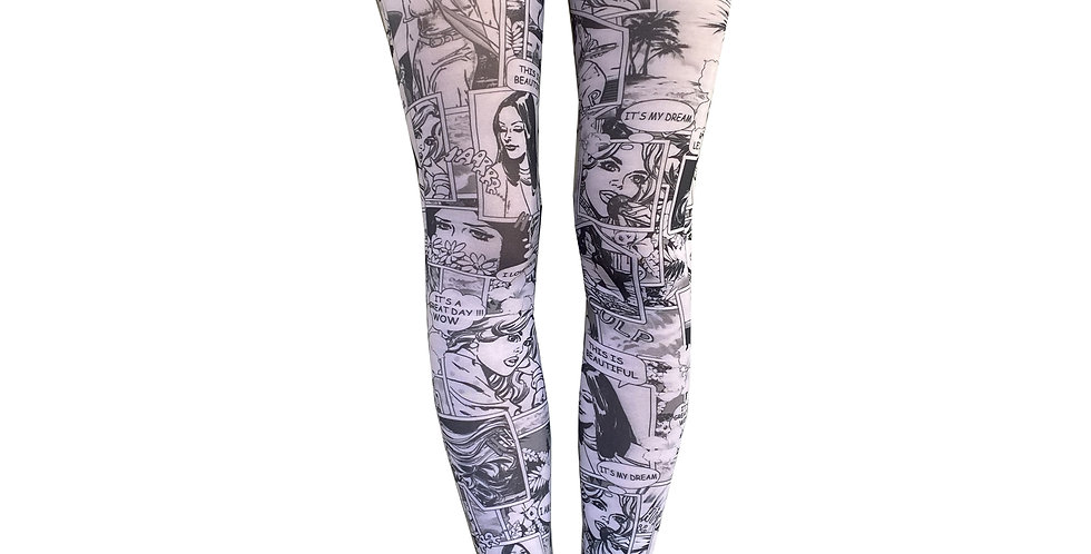 Black and White Patterned Tights comics for Women