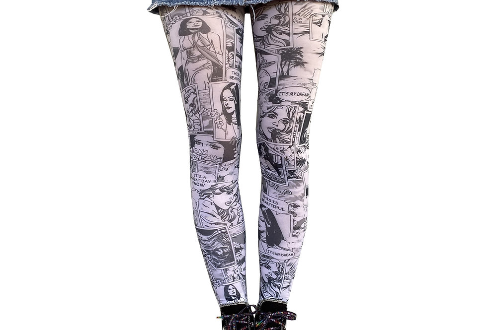 White Patterned Tights comics for Women