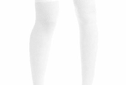 Solid White High Socks for Women