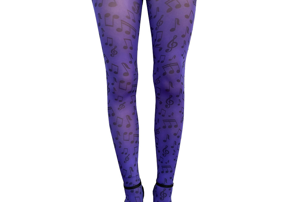 Purple Patterned Tights Music for all Women