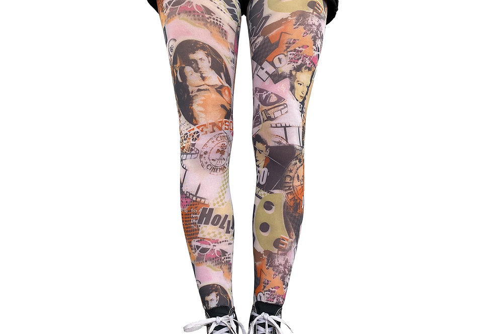 Hollywood Patterned Tights for Women