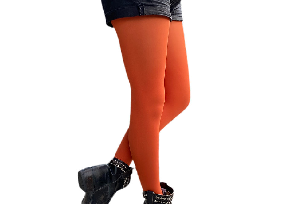 Rust Tights for Women Malka Chic