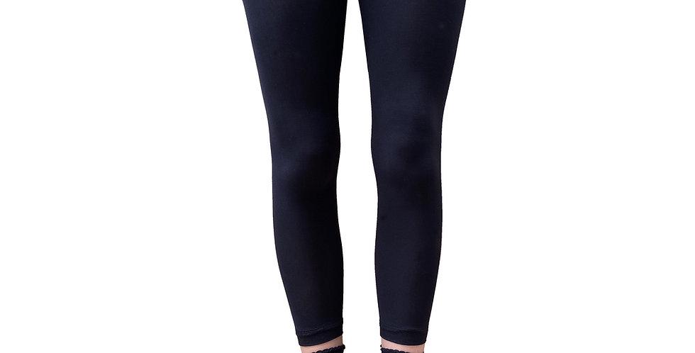 Black Sheer Heart Patterned Ankle Socks for Women