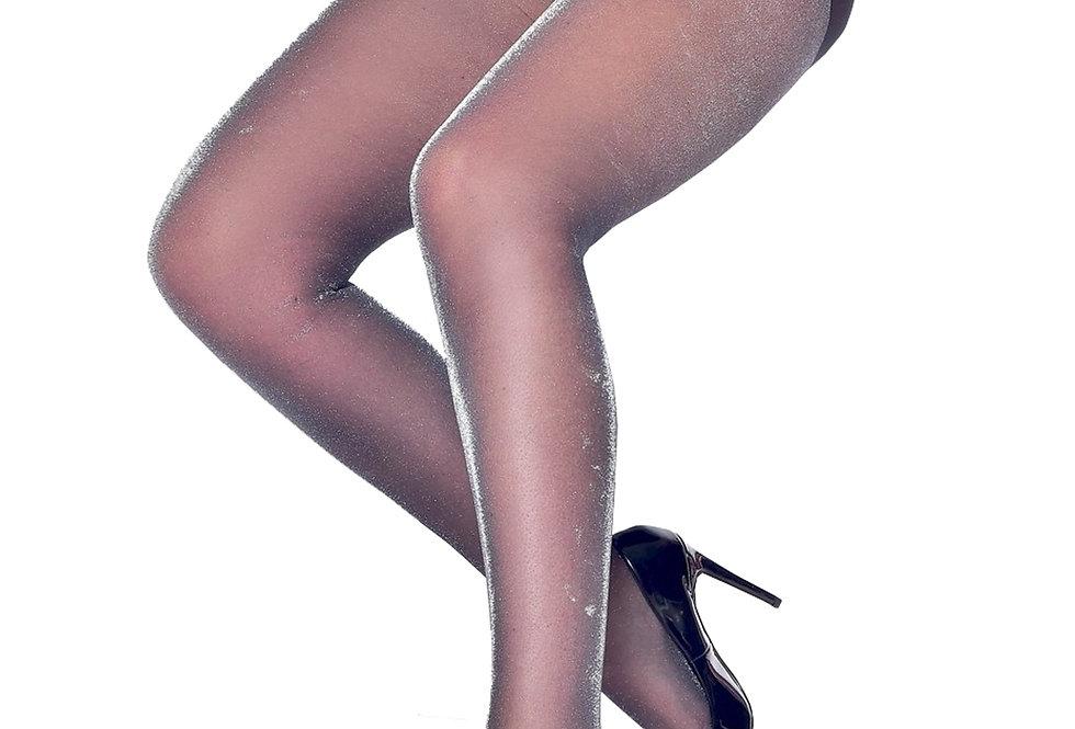 Black Silver Shimmer Sheer Tights For Women Malka Chic