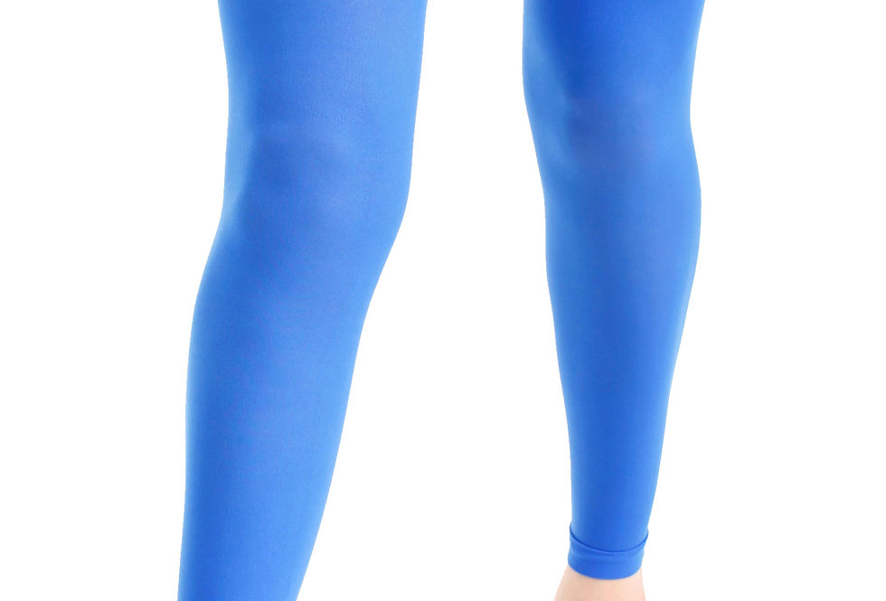 Blue Footless Tights Opaque 40 D