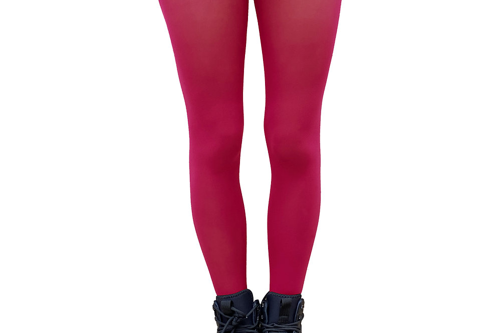 Cherry Pink Opaque Tights for Women