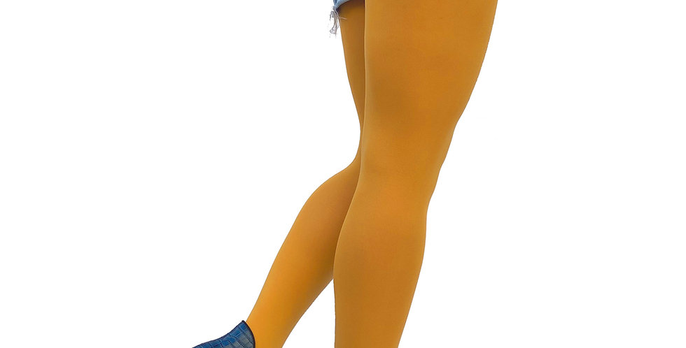 Plus Size Tights Yellow Mustard for Women