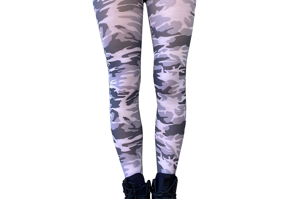 Camo Patterned Tights for Women