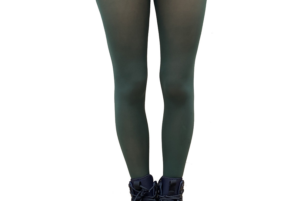 Forest Green Opaque Tights for All Women