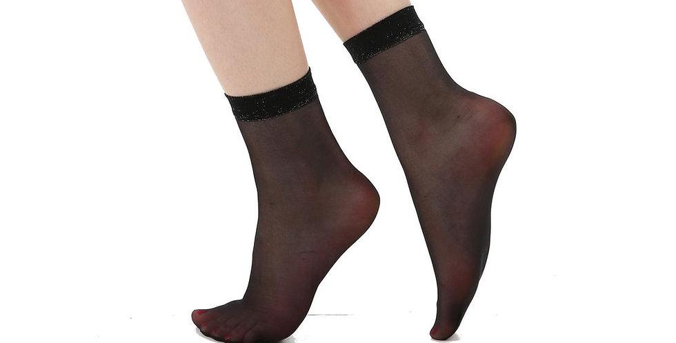 Black Sheer Socks Lace Frill for Women