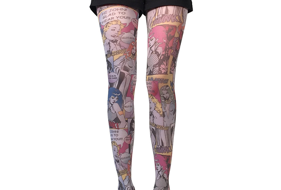 Patterned tights Comics Book for women