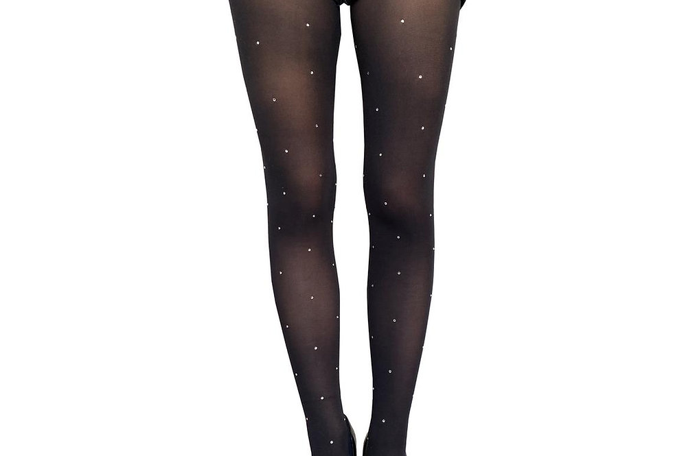 Gems Black Opaque Tights for women