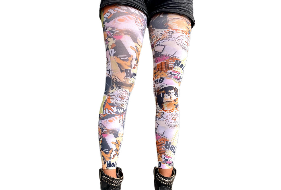 Hollywood Footless Tights for Women Malka Chic