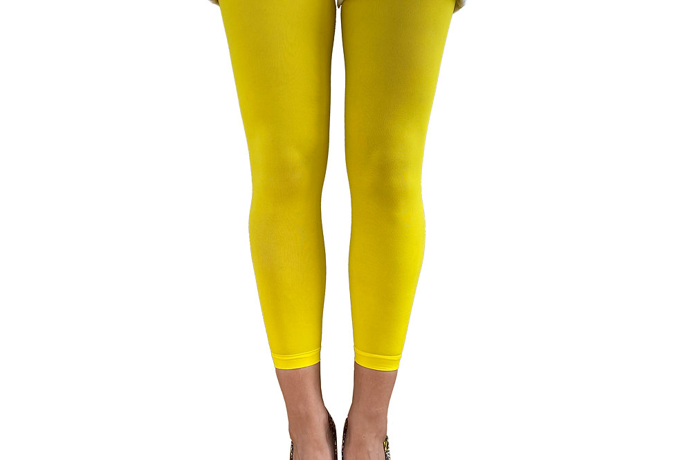 Yellow Footless Tights for Women Malka Chic