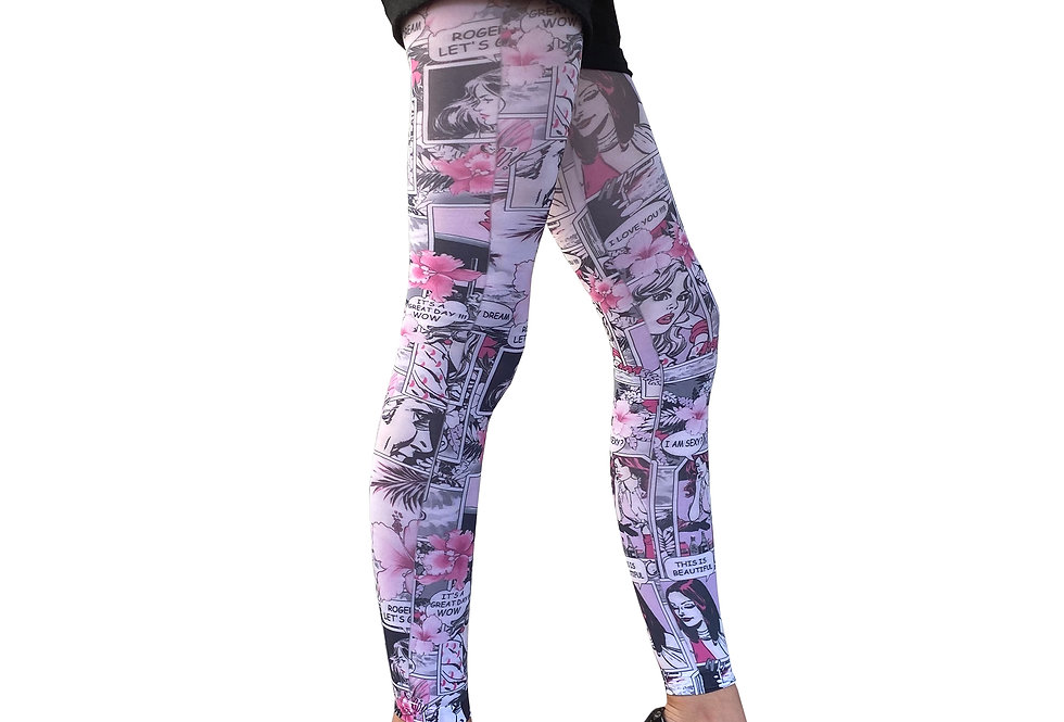 Pink Comics Footless Tights Paradise for Women