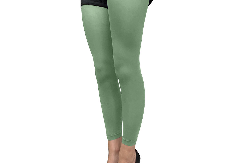 Leaf Green Footless Tights