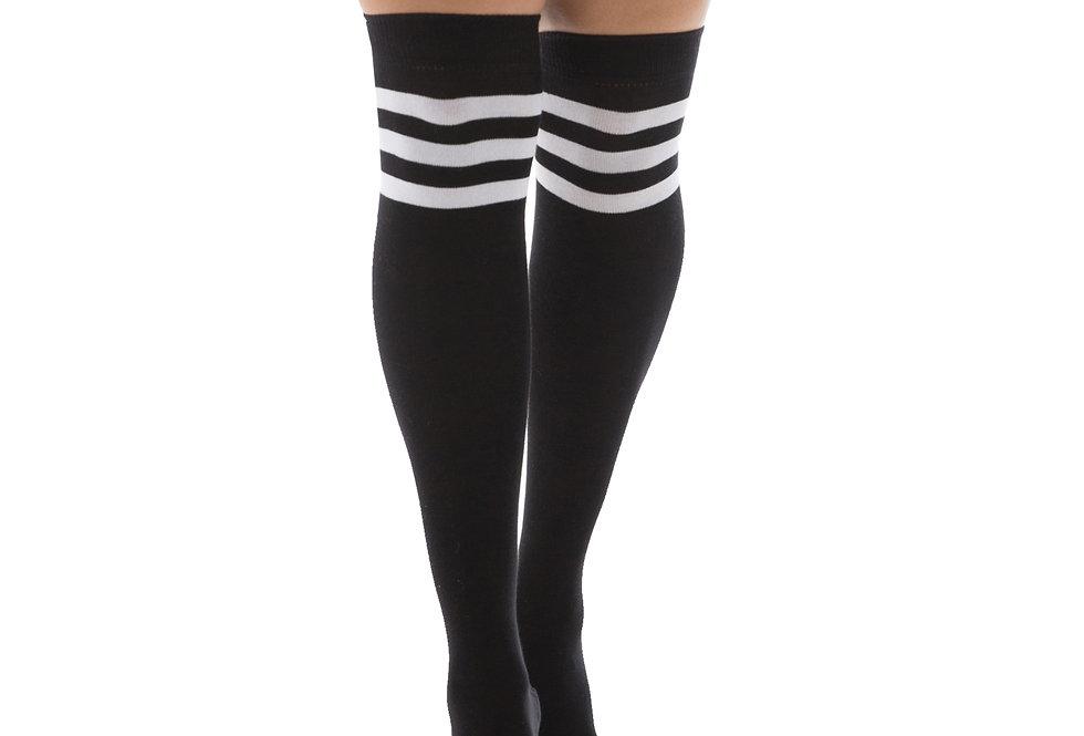 Black and White High Socks for Women